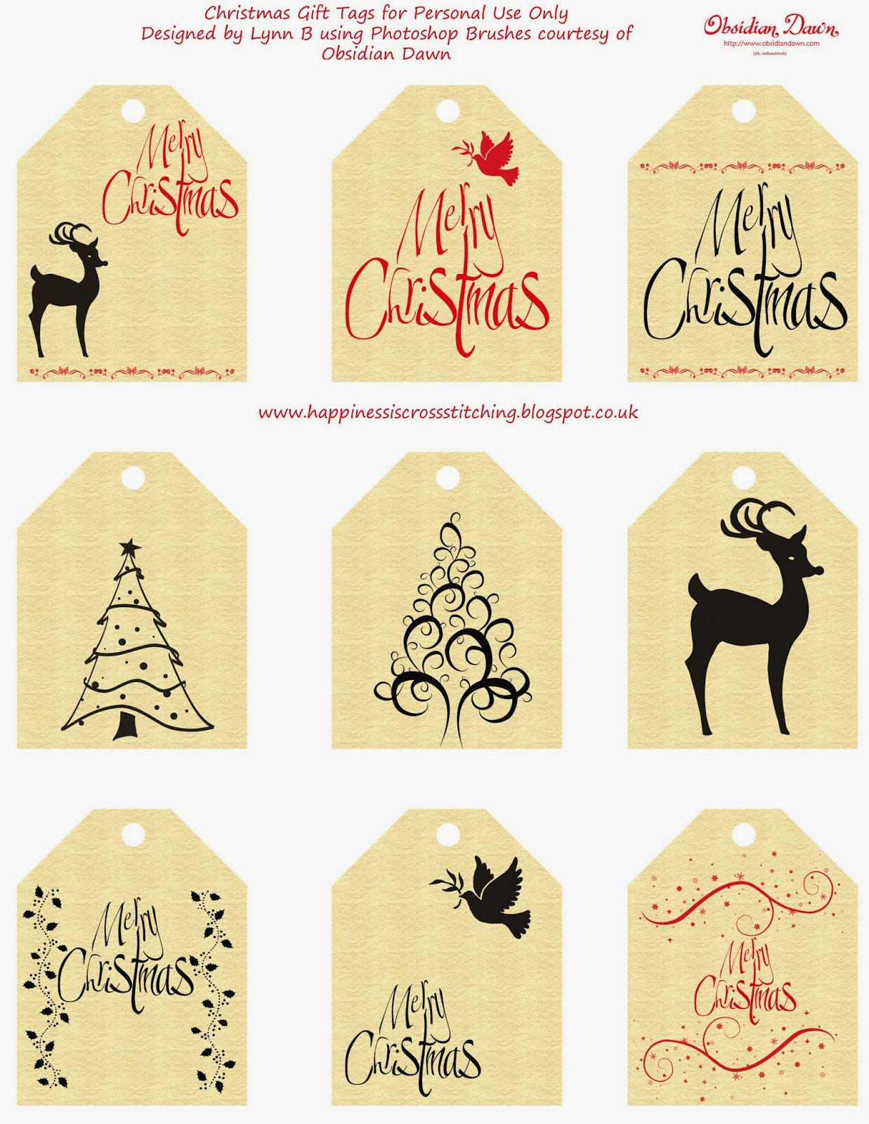 Christmas Gift Tags By Lynn B