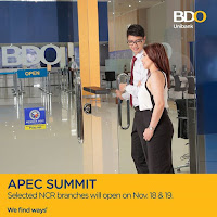 Image: Banco de Oro (BDO) Schedule on APEC 2015