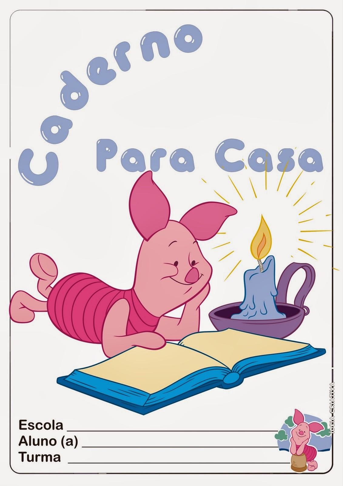 Capa Colorida para Imprimir – Caderno Para Casa / Atividades para Casa