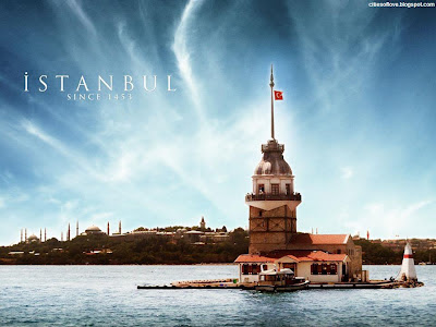 İstanbul Maiden's Tower The Bridge Between Europe And Asia Turkey Hd Desktop Wallpaper