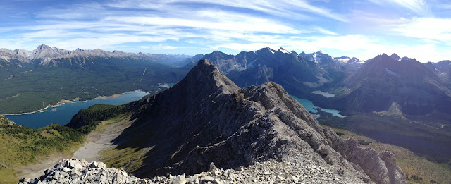 At the top of Indefatigable. Epic scramble. Epic ridge walk.