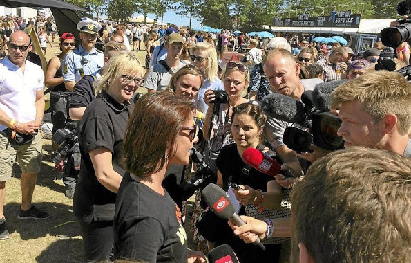 Princess Marie Attended The Roskilde Festival