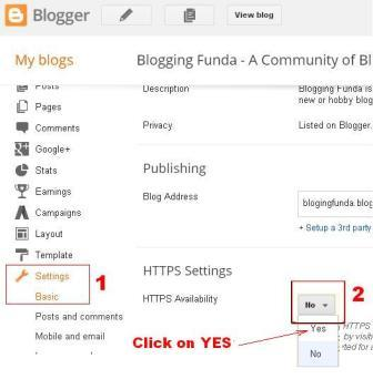 How to change your blog from non secure http protocol to secure https protocol