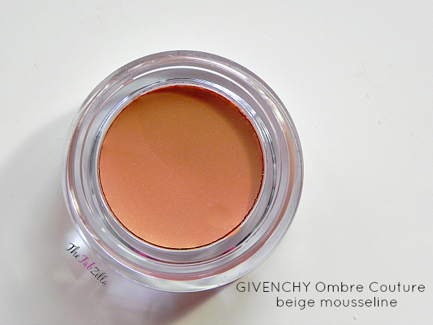 givenchy ombre couture cream eyeshadow review swatch beige mousellini