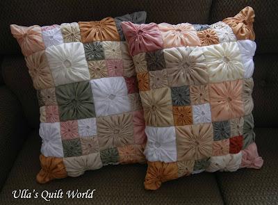 Ulla's Quilt World: Square Yo-Yo pattern, Quilted Pillowcase : pillowcase quilt pattern - Adamdwight.com