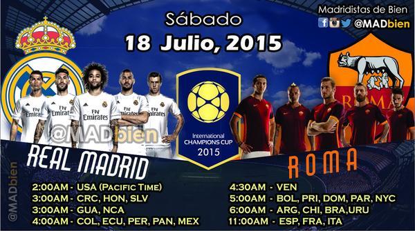 ملخص المباراة +ركلات جزاء مباراة ريال مدريد و روما 6-7|| بطولة الكأس الدولية للأبطال 2015
