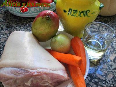 Cocinar Codillo Salmuerizado | Alicia Y Sus Recetas Codillo Salmuerizado En Dulce Con Mango