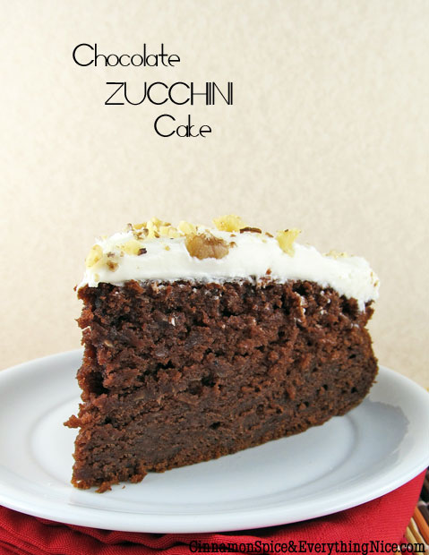 My Favorite Things: Chocolate Zucchini Cake with Sour Cream Frosting ...
