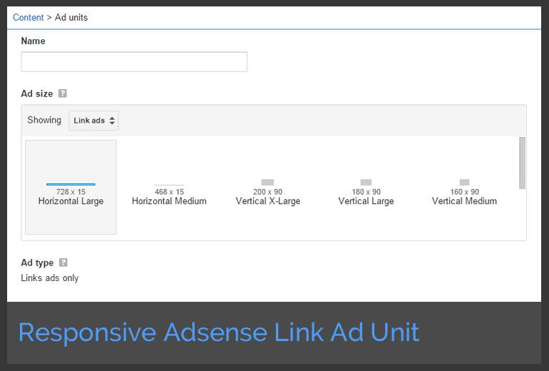create responsive adsense link ad unit