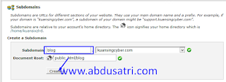 tutorial cara membuat subdomain di hosting