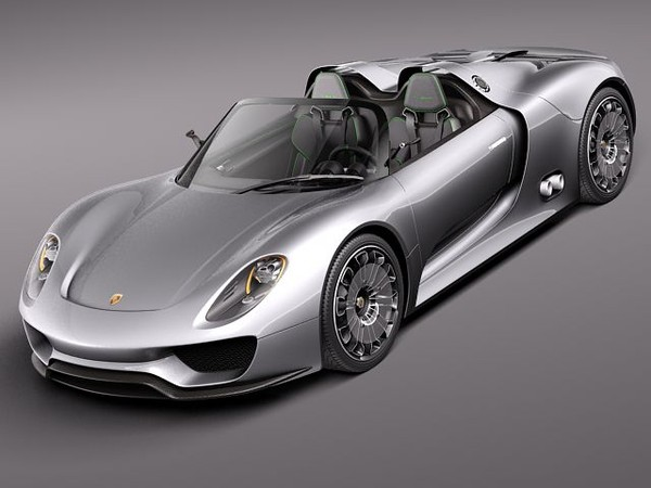 3d art reactor 3d model porsche 918 spyder 2012. Black Bedroom Furniture Sets. Home Design Ideas