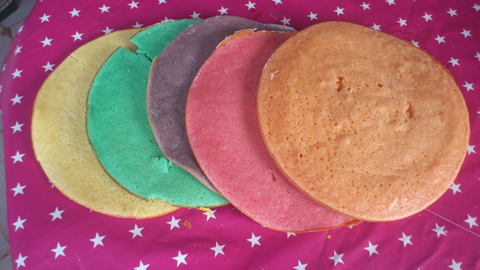 gateau gâteau rainbow colorants recette DIY arc-en-ciel cuisine patisserie
