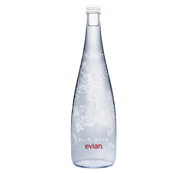 new evian limited edition 2014 by elie saab, botella edicion limitada