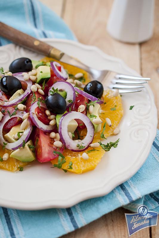 Hiszpańska sałatka z pomarańczami