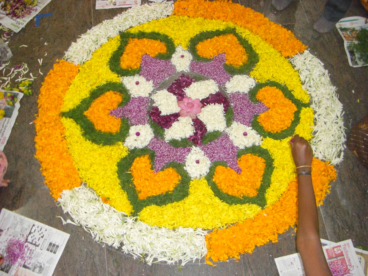 worlds largest collection of pookalams flower carpet