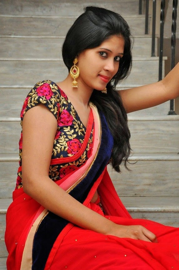 actress om sizzling photos in saree-HQ-Photo-11