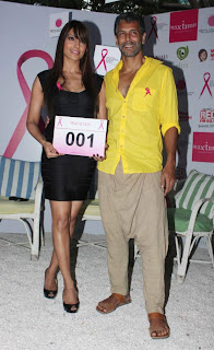 Bipasha & Milind at Pinkathon's Breast Cancer Awareness campaign