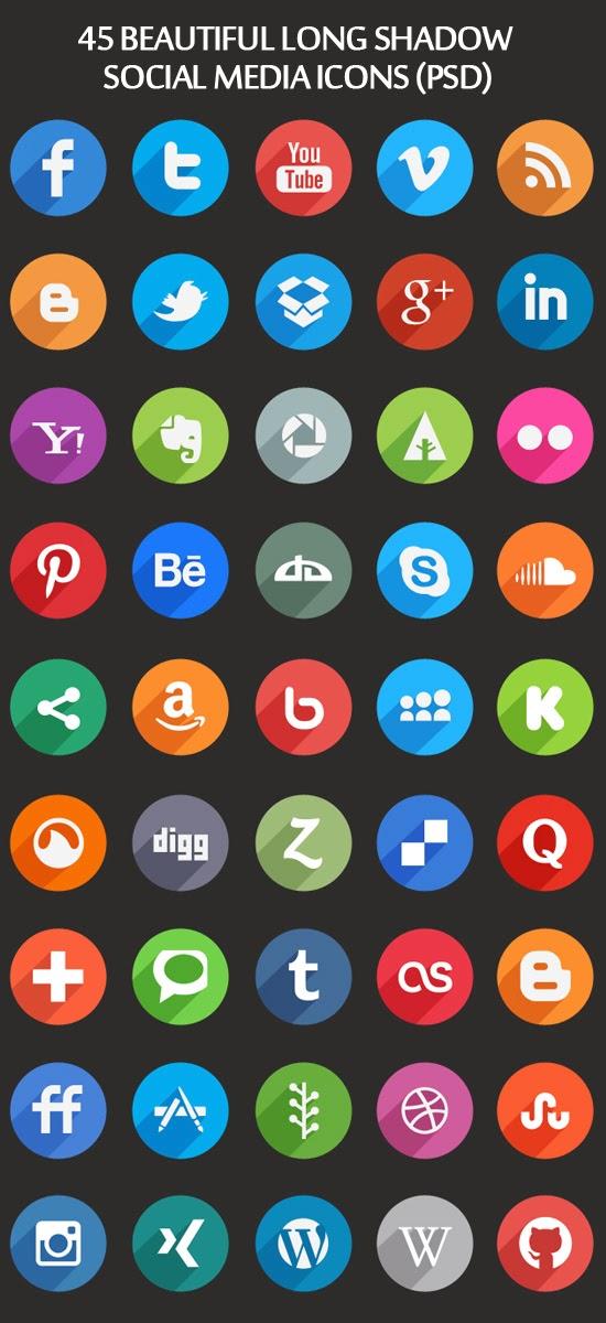 42 Social Media icons