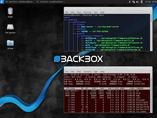 BackBox Linux 4.4 - Ubuntu-based Linux Distribution Penetration Test and Security Assessment