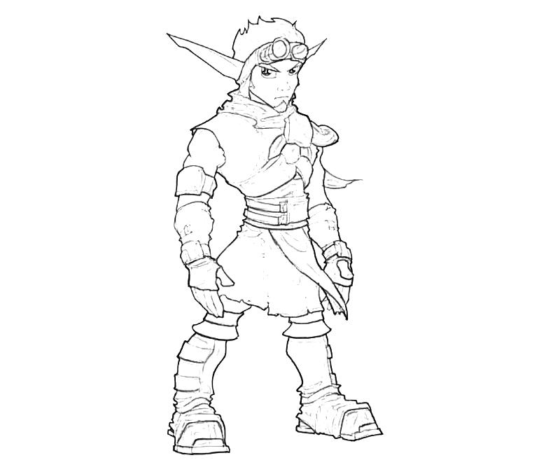 Jak Pages Coloring Pages Jak And Daxter Coloring Pages