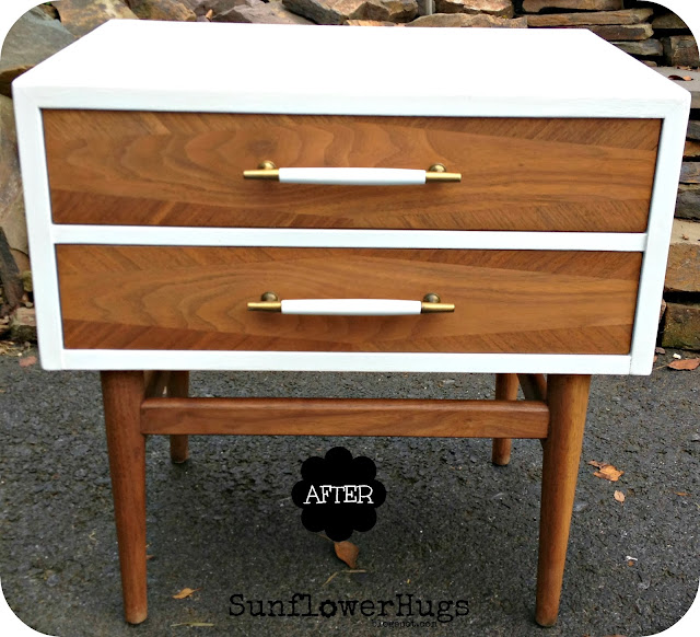 Mid-century furniture makeover