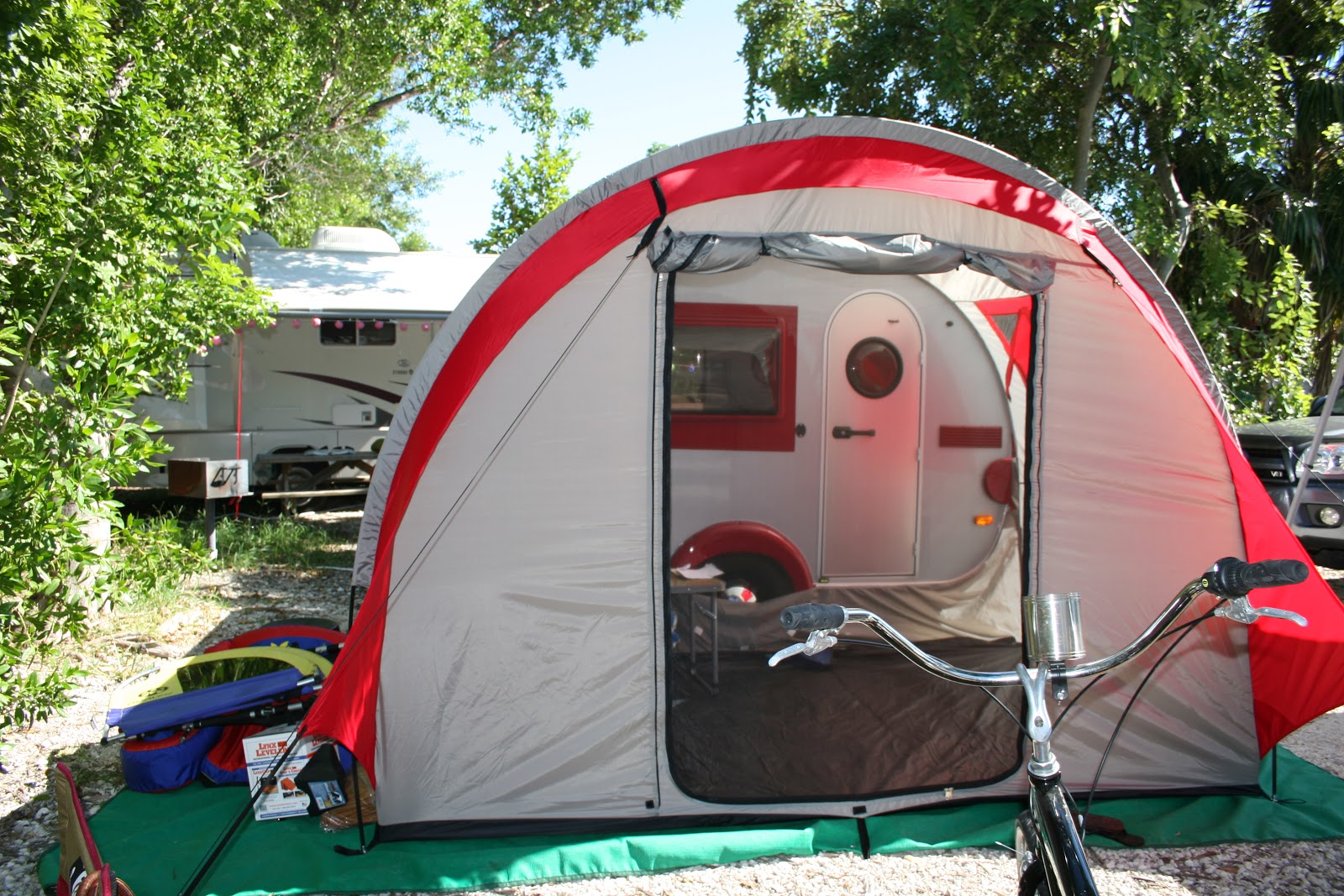 The c&er with the new Paha Que Tent! & A TAB Trailer Story: Keys Vacation