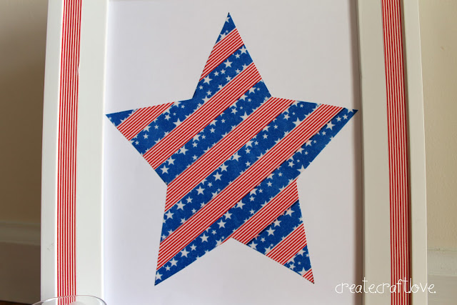 Stars and Stripes Washi Tape Art via createcraftlove.com #fourthofjuly #washitape