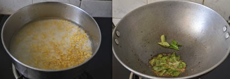 preparation for dal rice