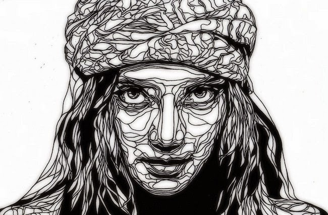 Line Drawing Of Artist : Simply creative portrait stencils by kris trappeniers