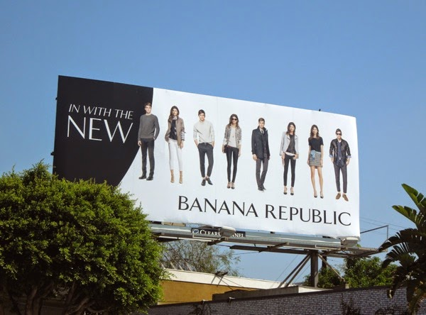In with the new Banana Republic billboard