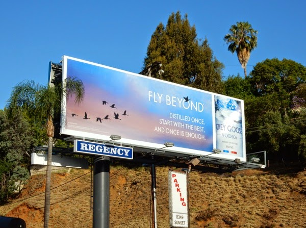 Grey Goose Vodka Fly Beyond 2015 billboard