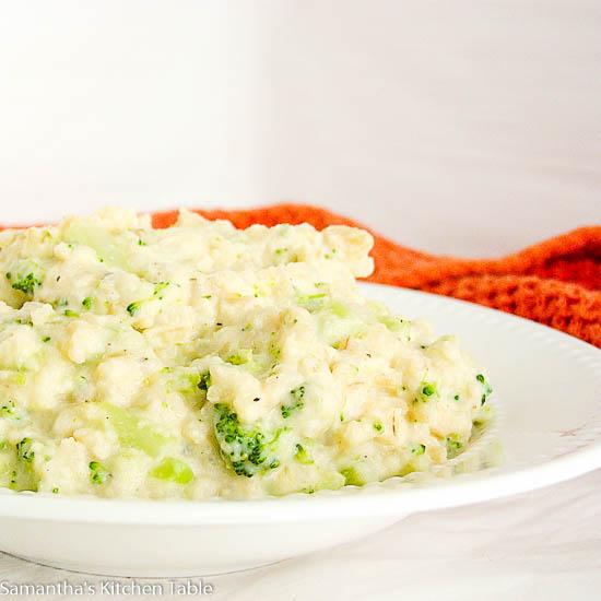 Low-fat Creamy Broccoli Rice