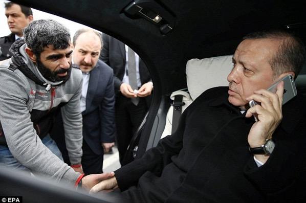 Lelaki tak jadi bunuh diri kerana kebijaksanaan Presiden Turki, Recep Tayyib Erdogan