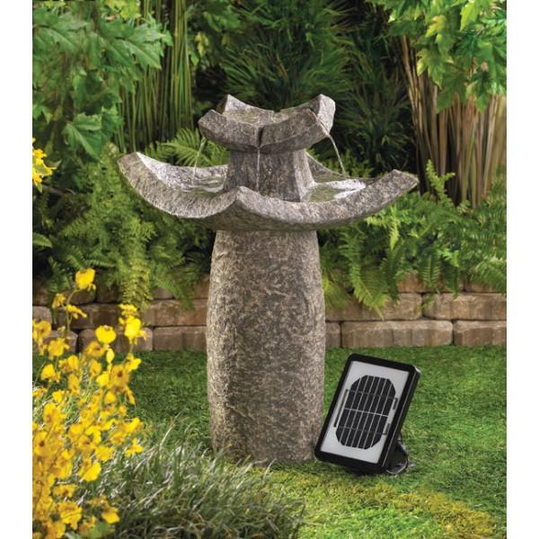 campbell 39 s word garden sun splash solar fountains in the garden
