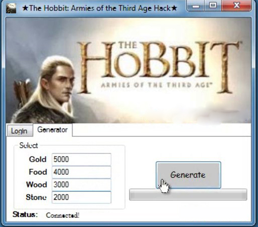 The Hobbit: Armies of the Third Age Hack Cheat Tool 2013