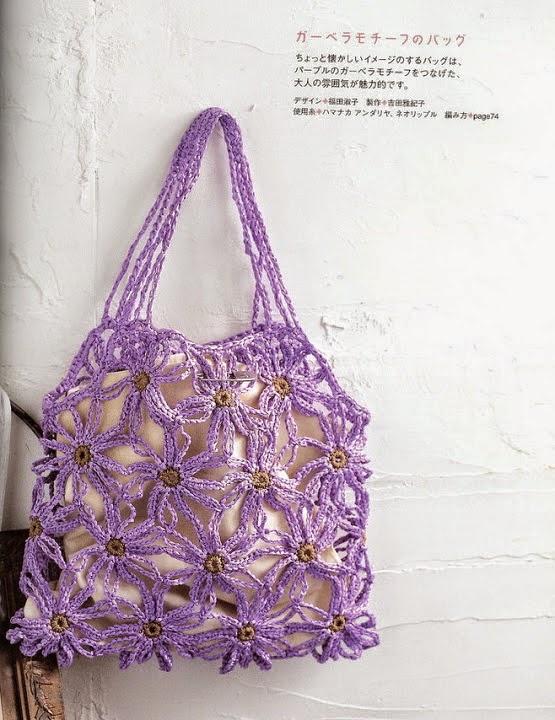 Bolso tejido con ganchillo con esquemas y patrones gratis