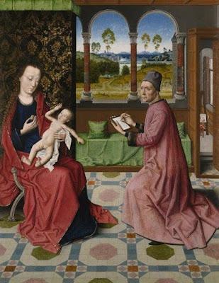 Dirk Bouts - saint Luc dessinant la vierge