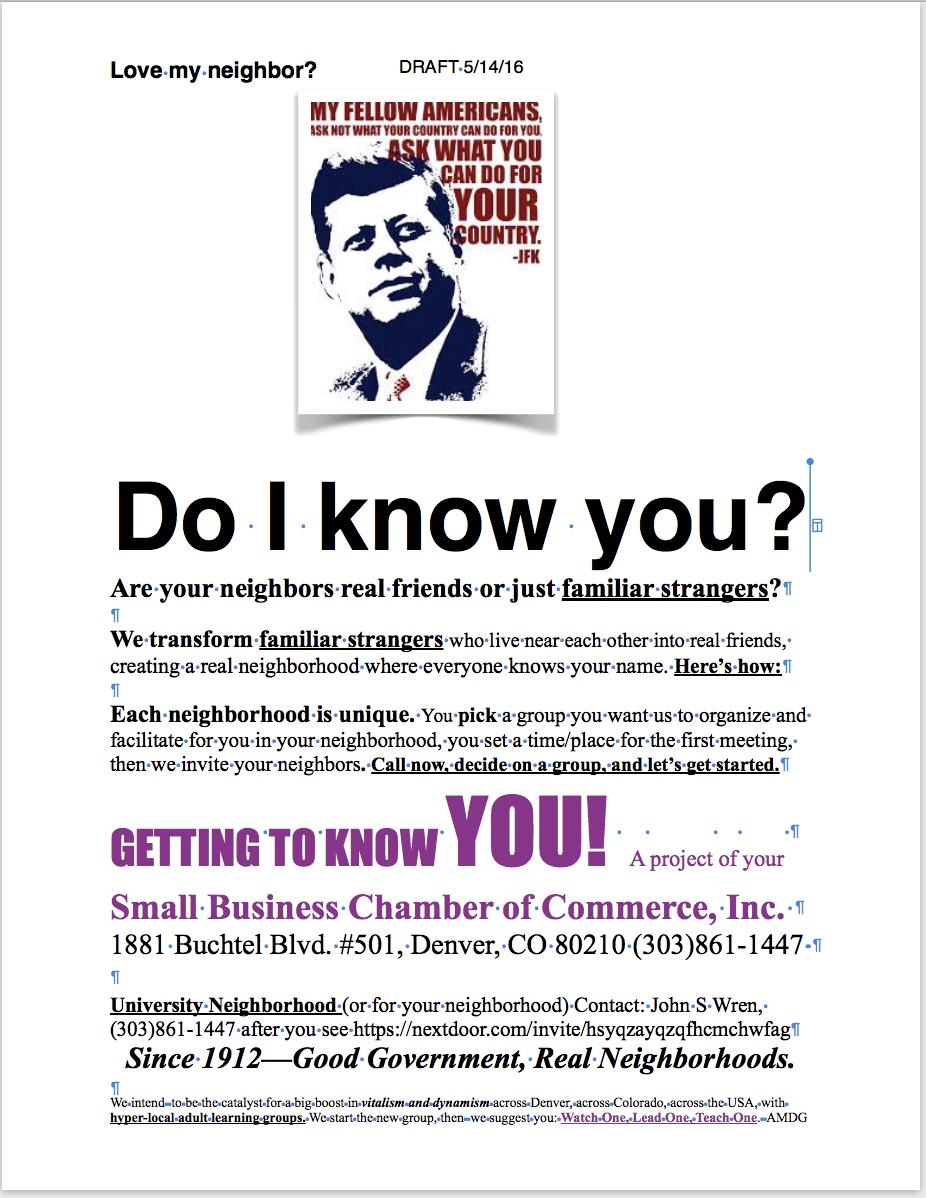 Caucus Corp: Neighborhood Development.