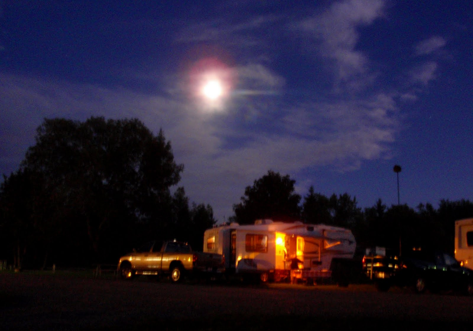 RV park at night
