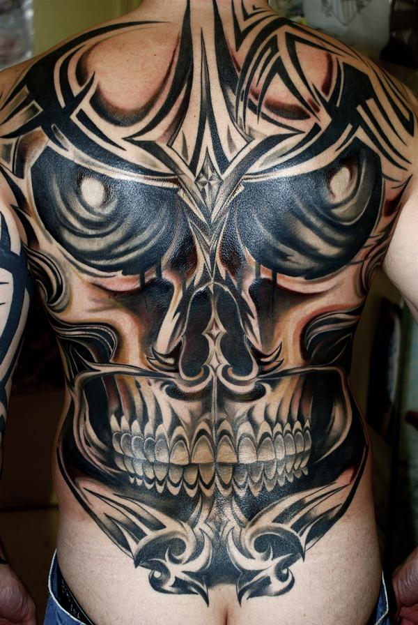 Tribal Skull Tattoos