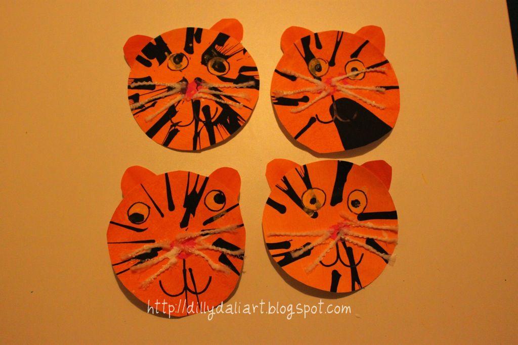 Tiger Spin Art & Dilly-Dali Art: Tiger Spin Art