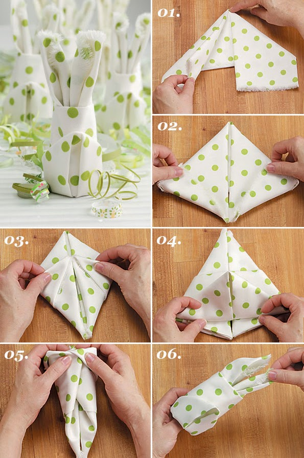 Maiko Nagao DIY How To Fold A Bunny Napkin