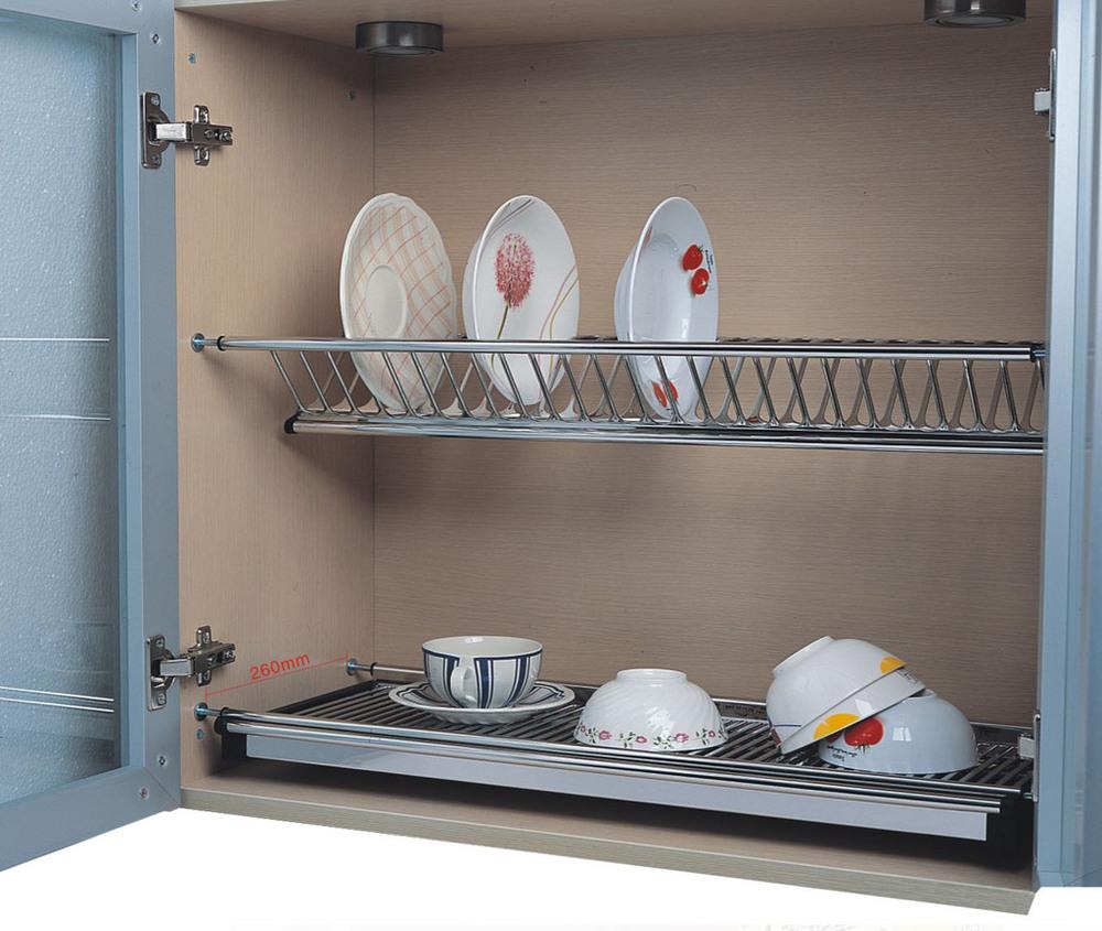 Kitchen Set Gantung: Rak Piring Stainless Dalam Lemari Kabinet