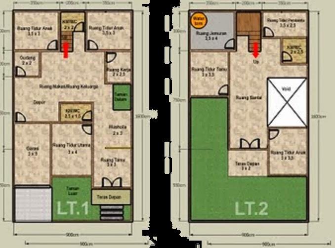 gambar contoh denah dan desain rumah minimalis short