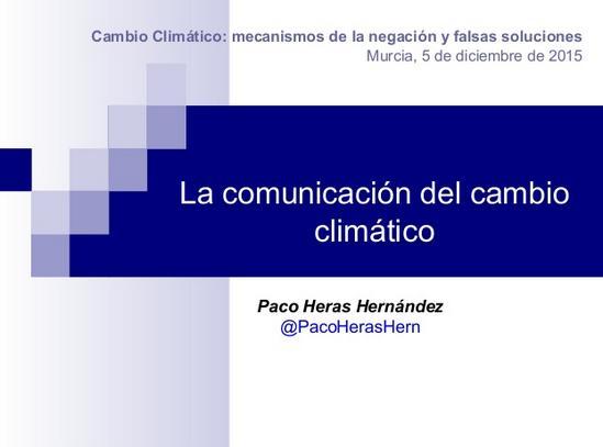 Cambio Climático y Comunicación