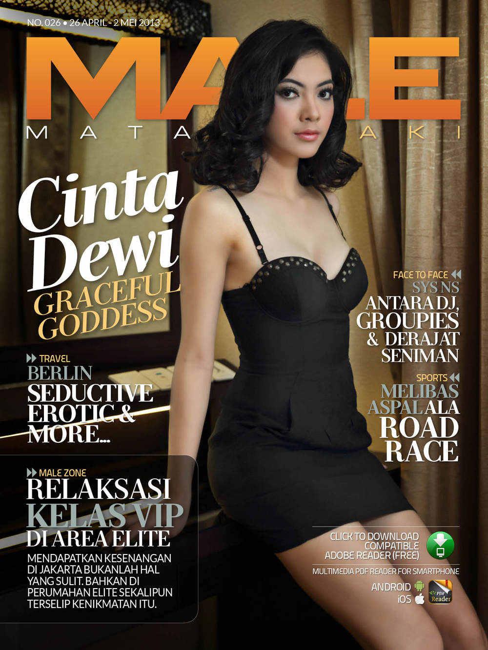 Foto Cinta Dewi di Majalah MALE Edisi 026 April 2013