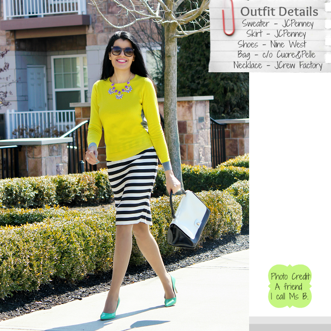 JCPenney Pencil Skirt, Black & White Stripes Pencil Skirt, Nautical Stripes, Spring Outfits