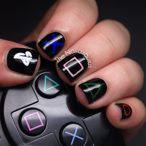 Playstation Nail Art The Nailasaurus Uk Nail Art Blog