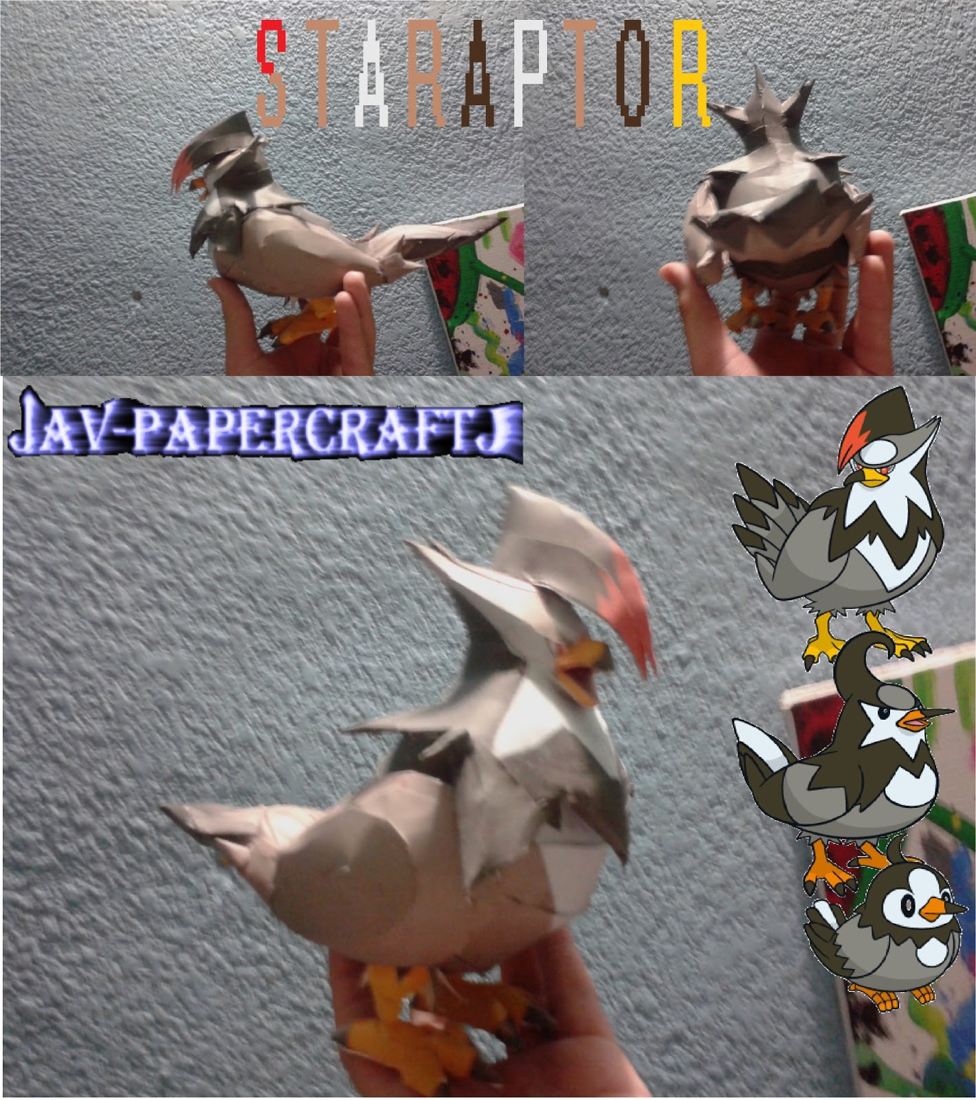 Pokemon Staraptor Papercraft