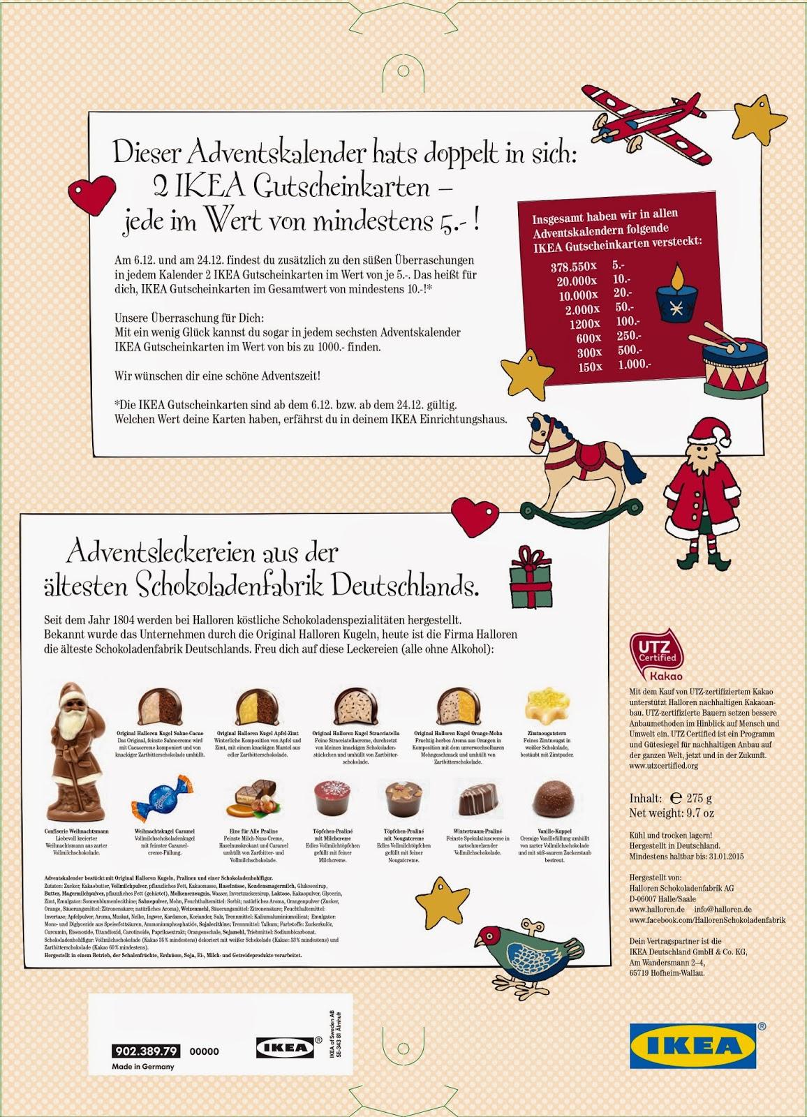 140meter fundst ck 8 ikea adentskalender for Ikea kalender